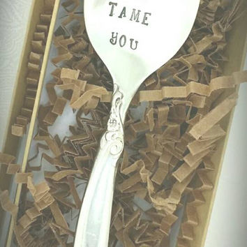 Don't Let Them Tame You Hand Stamped Coffee Spoon