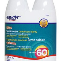 Equate Kids' Sunscreen Continuous Spray - SPF 60 Twin Pack | Walmart.ca