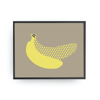 Banana Yellow Dots, Baby Art, Kids Decoration, Children Print, Education Art, Fruit Illustration, Nursery Decor, Banana Art, Nursery Poster