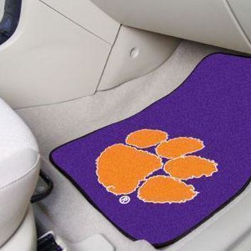 "NCAA -  Clemson 2-pc Purple Carpeted Front Car Mats 17""x27"""