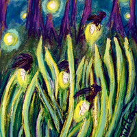 Fireflies, Signed Metallic Art Print Pre-Order