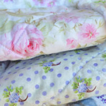 Shabby Chic Rag Quilt French Bouquet by SeasonOfTheStitch on Etsy