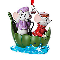 Bernard and Miss Bianca Sketchbook Ornament - The Rescuers - 40th Anniversary