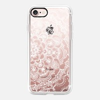 Fancy White Lace Mandala on crystal transparent iPhone 7 Case by Micklyn Le Feuvre | Casetify