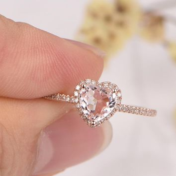 Best White Gold Morganite Engagement Ring Products on Wanelo 3b4935838e35