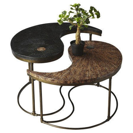 2 piece yin yang cocktail table set from joss and main cool for Table yin yang basse