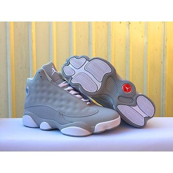 Air Jordan 13 Men Women Retro AJ13 Gray Basketball Shoes