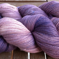 Mauves, Purple and Blue - Hand Dyed Superfine Australian Merino Wool (19.5 microns) 4 ply Fingering Weight Yarn 100gr