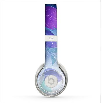 The Magical Abstract Pink & Blue Floral Skin for the Beats by Dre Solo 2 Headphones