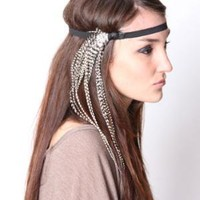 Feather Stretch Head Band by Babooshka