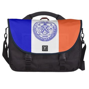 New York City Flag Rickshaw Laptop Bag