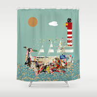 the art whale  Shower Curtain by bri.buckley