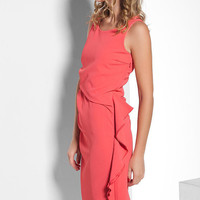 SPECIAL SALE 70%  Coral evening cocktail dress