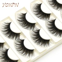 YOKPN Exaggerated Fake Eyelashes Brown Black Crisscross Messy Thick False Eyelashes Show Latin Makeup Eye Lashes