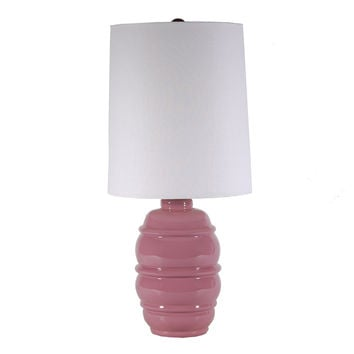 Lilac Scout Ceramic Lamp by Arteriors