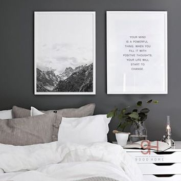 Modern Abstract Canvas Art Print Poster,Set of 2, No Frame