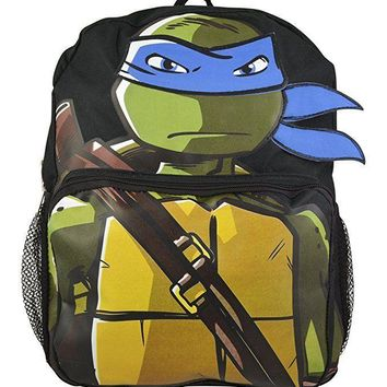 "Teenage Mutant Ninja Turtles TMNT Leonardo 14"" School Backpack Travel Bag"