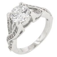 Brilliant Twist Engagement Ring, size : 07