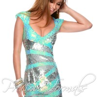 Precious Formals P9013 Sequin Cocktail Dress