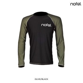 2-Pack: Nofel Moisture-Wicking Crew Neck Base Layer Sport Shirts - Assorted Colors