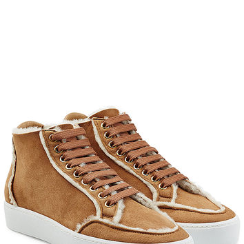 Burberry Shoes & Accessories - Suede Sneakers with Shearling Lining