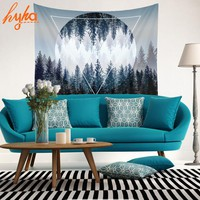Hyha HD Forest Tapestry As if in the Forest Home Decor Tropical Trees 3D Decorative Wall Tapestry Moonlight Decorative House