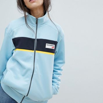 New Balance Track Jacket In Blue at asos.com