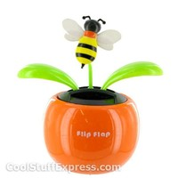 Solar Powered Bumblebee Flower