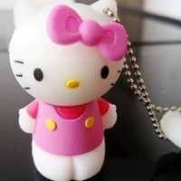4GB Cute Pink Hello Kitty Style USB flash drive with Keychain