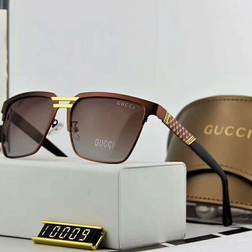 Gucci polarized metal men's large frame sunglasses F-A-SDYJ NO.3