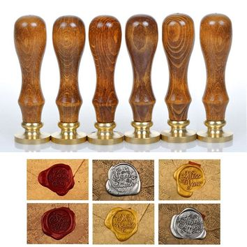 Classic Sealing Wax Initial Wax Seal Stamp Various Alphabet Letter Retro Wood Scrapbooking Stamp DIY Post Decorative