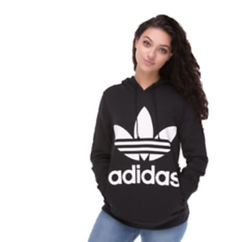 ADIDAS Womens Sportswear Hooded Top Sweatshirt