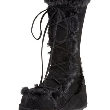 Black Cubby Boots : Pleaser and Demonia GoGo Boots from RaveReady!