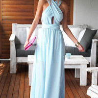 Light Blue Perfect Date Maxi Dress