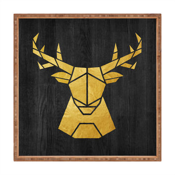 Nick Nelson Deer Symmetry Square Tray