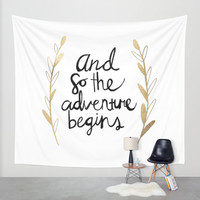 The Adventure Begins Wall Tapestry by Tangerine-Tane
