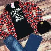 Whiskey Bent & Hell Bound Graphic Tee - XS-LG