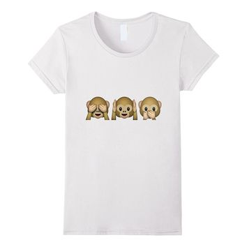 Funny Monkeys Emoji T Shirt