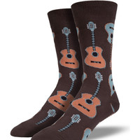 Socksmith Guitars Brown Socks