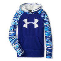 Under Armour Kids Printed Big Logo Armour® Fleece Hoodie (Big Kids) Siberian Iris/Siberian Iris/Ivory - Zappos.com Free Shipping BOTH Ways