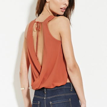 Contemporary Twisted-Back Top | Forever 21 - 2000187271