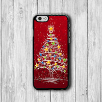 Big Chrismas Tree with Santa Gift Printed iPhone 6 Case, iPhone 6 Plus, iPhone 5S, iPhone 4S Hard Case, Rubber PVC Accessories Gift for Him