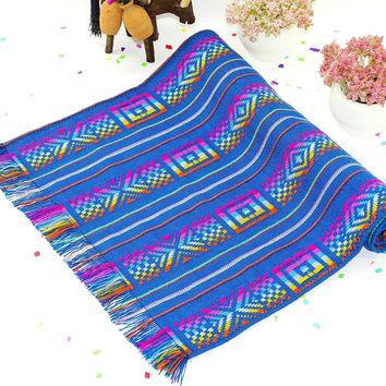 Teal Blue Mexican Table Runner - 3 Sizes Available