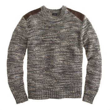 J.Crew Mens Italian Wool-Alpaca Shoulder-Patch Sweater