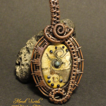 Wire Wrapped 'Monet Swirls' Handcrafted by The Wired Fox on Zibbet
