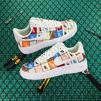 Nike Air Force 1 Af1 Low Flyknit Patchwork 2.0