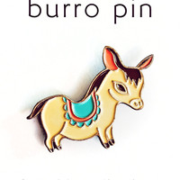 Donkey Pin Enamel Pin Donkey Lapel Pin Burro Pin by boygirlparty