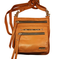 Tasca Leather Purse - Whiskey with Nickel
