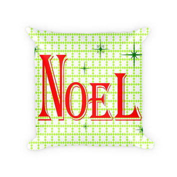 Noel I Cotton Poly Throw Pillow