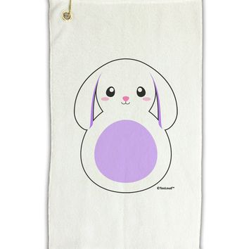 "Cute Bunny with Floppy Ears - Purple Micro Terry Gromet Golf Towel 11""x19 by TooLoud"